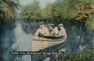 BRANDYWINE SPRINGS Park , Delaware , 1912 ; Creek view