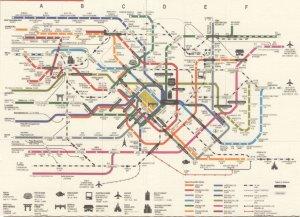 Tokyo Subway Japan Train Underground Map Postcard