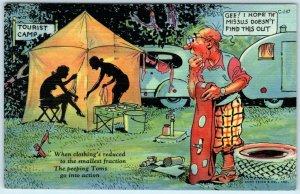 Shadow Comic RAY WALTERS - Risque Peeping Tom Tourist Court 1941   Postcard