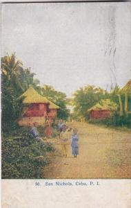 Philippines Cebu Street Scene San Nichola 1910
