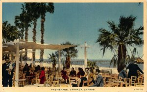 Cyprus Larnaca Promenade postcard