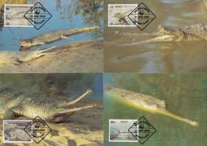 Palau Crocodile WWF Stamp First Day Cover 4x Postcard