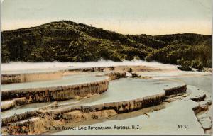 The Pink Terrace Lake Rotomahana Rotorua NZ New Zealand Unused Postcard F9