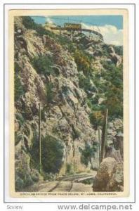Circular Bridge From Track Below, Mt. Lowe, California, 1919