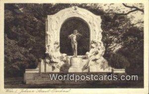Johann Straub Denkmal Wien, Vienna Austria Unused