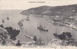 La Rade et l'Escadre , Villefranche, France, PU-1905