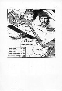 Pilot Aviator AS1 Fiat Airplane Flight Plan Map Real Photo Non PC Back J75556