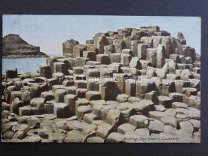 Northern Ireland ANTRIM Wishing Chair Giant's Causeway c1905 Old Postcard