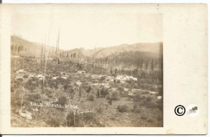 Field Target Range Real Photograph Postcard Military Test Site 1904-1918 Vintage
