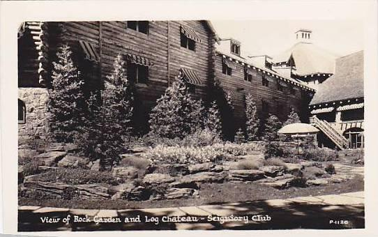 RP, View Of Rock Garden & Log Chateau, Seigniory Club, Quebec, Canada, 1920-1...