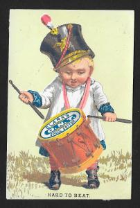 VICTORIAN TRADE CARD Clark's ONT Thread Drummer Boy