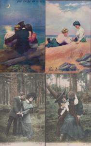Take Just One What A Tease No Time To Write 4x Old Romance Love Postcard s