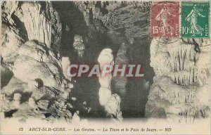 Old Postcard Arcy sur Cure caves Tiara and Sugar Loaf