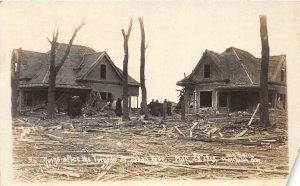 F56/ Yutan Nebraska RPPC Postcard 1913 Tornado Disaster 2