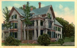 Bellows Falls, Vermont - The Rockingham Hospital - in1915