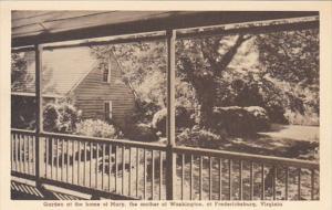 Virginia Fredericksburg Garden At Home Of Mary Mother Of George Washington Al...