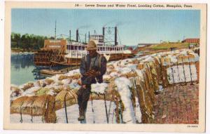 Levee Scene & Water Front, Memphis TN