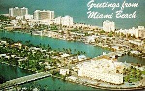 Florida Miami Beach Aerial View Of North Beach Section