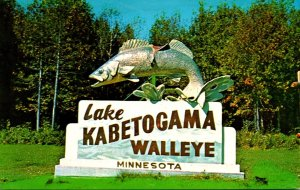 Minnesota Ray Lake Kabetogama The World's Largest Walleye