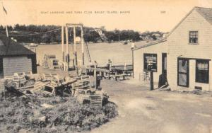Bailey Island Maine Boat Landing And Tuna Club Antique Postcard K97387