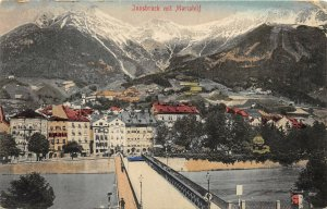 Innsbruck Mit Mariahilf Austria 1907 Postcard View With Mountains Posted to USA