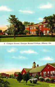 Georgia Albany Georgia Normal College Campus Scenes Curteich