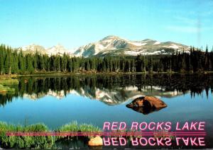 Colorado Indian Peaks Wilderness Area Red Rocks Lake
