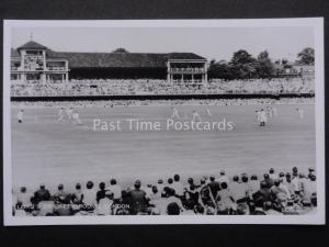 London LORDS CRICKET GROUND MATCH St. Johns Wood - Old RP Postcard by Aerofilms