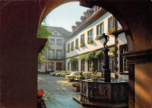 Koblenz Schaengelbrunnen Statue Fountain Vintage Cars Auto Voitures