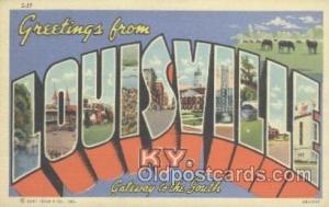 Louisville, KY USA Large Letter Town Postcard Postcards  Louisville, KY USA