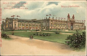 1904 St. Louis World's Fair Palace Horticulture HTL Hold to Light Postcard