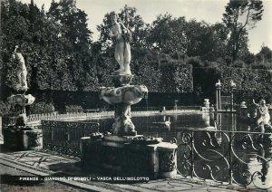 Italy Florence the boboli garden the basin of the little island Postcard
