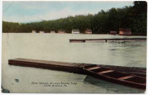 1910 Lake Winola PA Boat Houses Overfield The Wilkes-Barre Side RARE DB Postcard