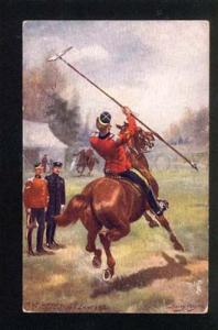 044359 HORSE Military by Harry PAYNE vintage TUCK