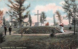 G83/ Auriesville New York Postcard 1909 Memorial Cross Monument