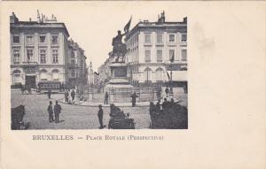 Place Royale (Perspective), BRUXELLES, Belgium, 1900-1910s