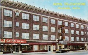 Hotel Yellowstone Pocatello Idaho ID Unused Vintage Postcard F74