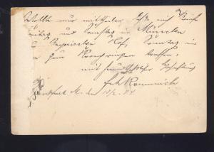 1884 FRANKFURT GERMANY POSTAL CARD GERMAN POSTCARD VERY OLD VINTAGE