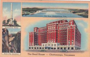 Tennessee Chattanooga The Read House Hotel 1939 Curteich