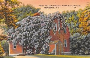 Providence R I~Betsy Williams Cottage At Roger Williams Park~1940 PC