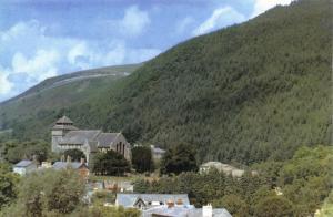 LIMITED EDITION Postcard KNIGHTON Church & Kinsley Wood Powys WALES #2