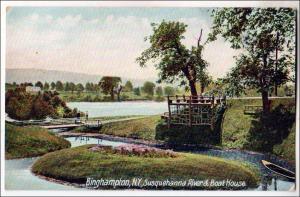 Susquehanna River & Boat House, Binghamton NY