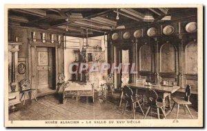 Old Postcard Alsatian Museum La Salle Du 17eme Strasbourg