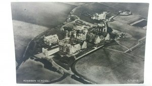 Vintage Postcard Roedean School and Surrounding Area Aerial View Sussex RPPC