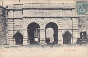 QUEBEC, Canada, 1900-1910's; St. John's Gate