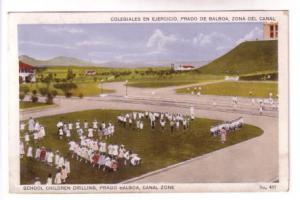 School Children Drilling, Prado Balboa, Canal Zone, IL Maduro, Jr