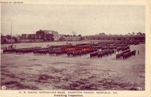 U.S. NAVAL OPERATING, HAMPTON ROADS, NORFOLK, VA Awaiting Inspection