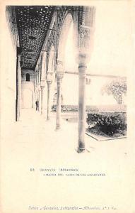 Spain Old Vintage Antique Post Card Galeria del Patio de los Arrayanes Granad...