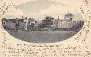LP23 Matamoros Mexico Cemetery Graveyard postcard