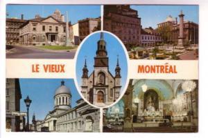 Fiveview of Montreal Quebec, Customs Building, Bon Secours, Monument